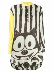 JC de Castelbajac Pre-Owned 1980s Felix the Cat oversized shirt - Grey