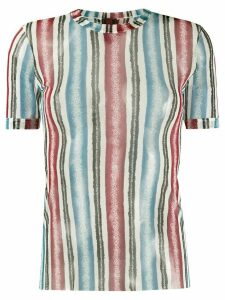 Jean Paul Gaultier Pre-Owned 1990s sheer striped T-shirt - Blue