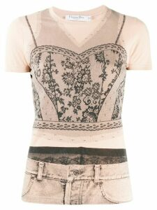 Christian Dior Pre-Owned 2006 outfit printed top - NEUTRALS