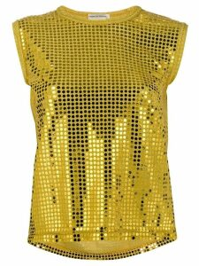 Comme Des Garçons Pre-Owned 2000's Golden dots top - Yellow