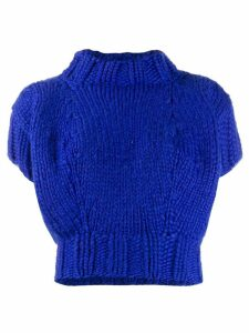 Junya Watanabe Comme des Garçons Pre-Owned 1997's knitted top - Blue