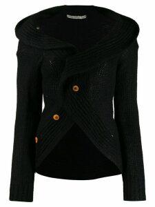 Comme Des Garçons Pre-Owned 2002's circle shaped cardigan - Black
