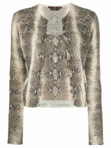 John Galliano Pre-Owned 1990's snakeskin print top and cardigan set -