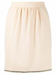 Chanel Pre-Owned 1990s ribbon detail short skirt - NEUTRALS