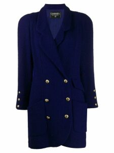 Chanel Pre-Owned 1980's double breasted coat - PURPLE