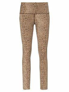 Varley Duncan cheetah-print leggings - Brown