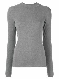 Vaara Evelyn ribbed slim-fit top - Grey