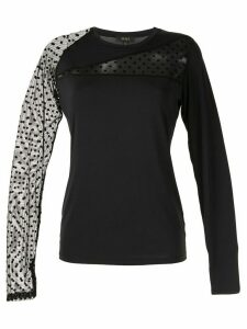 ALALA Gwen sheer insert performance top - Black