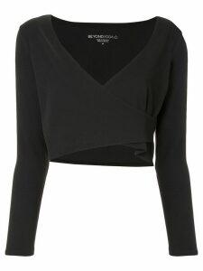 Beyond Yoga New Graceland wrap crop top - Black
