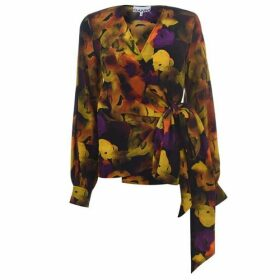 Ganni Yellow Flower Blouse