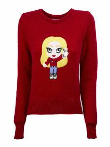 Chiara Ferragni Red Merino Wool Sweater