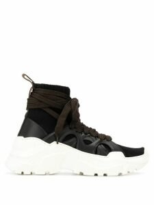Agnona wraparound laces high top sneakers - Black