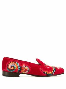 Stubbs & Wootton spiral embroidered loafers