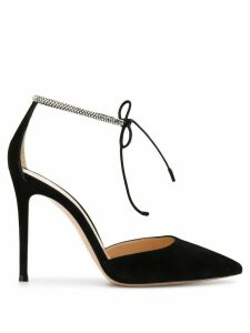 Gianvito Rossi crystal-embellished strap pumps - Black