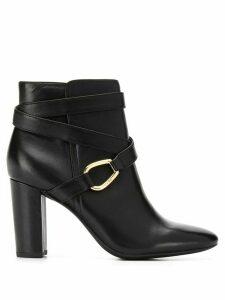 Lauren Ralph Lauren cross strap ankle boots - Black
