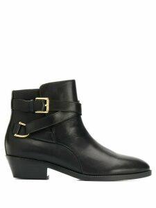 Lauren Ralph Lauren side buckle ankle boots - Black