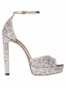 Jimmy Choo glitter Pattie 130mm sandals - PURPLE