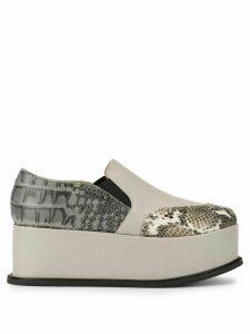 G.V.G.V. slip-on platform loafers - Grey