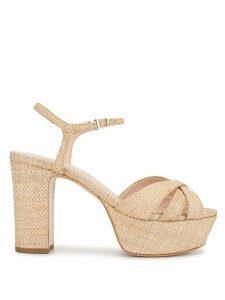 Schutz Rafia platform sandals - Brown