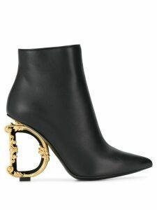 Dolce & Gabbana D & G heel boots - Black