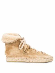 Altuzarra Gus espadrille boots - NEUTRALS