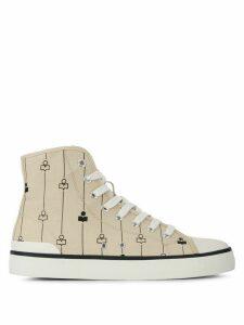 Isabel Marant logo print hi-top sneakers - NEUTRALS