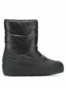 Bally fur-lined boots - Black