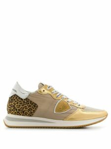 Philippe Model low top leopard print sneakers - GOLD