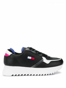 Tommy Jeans high cleated logo sneakers - Black