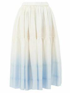 Anaak - Avadi Dégradé Silk-charmeuse Skirt - Womens - Blue Multi