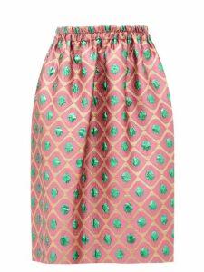 La DoubleJ - Pomodorini-jacquard Skirt - Womens - Pink Print