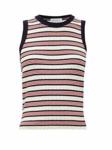 Odyssee - Liberte Striped Knitted Tank Top - Womens - Red Stripe
