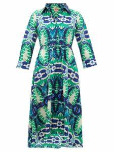Le Sirenuse, Positano - Lucy Printed Cotton Dress - Womens - Green Print