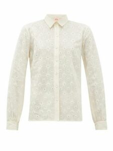 Le Sirenuse, Positano - Penny Positano-embroidered Cotton-poplin Shirt - Womens - Cream