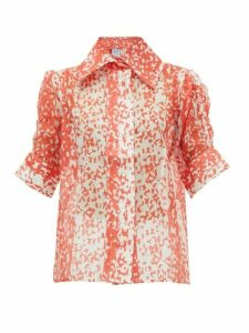 Thierry Colson - Tilda Printed Cotton-blend Blouse - Womens - Red