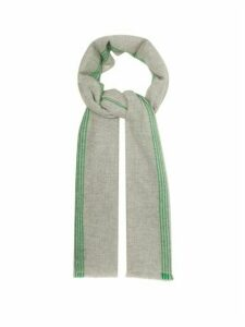 Isabel Marant - Vadim Striped Cashmere Scarf - Womens - Grey