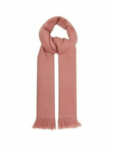 Isabel Marant - Carlyn Fringed Cashmere Scarf - Womens - Light Pink