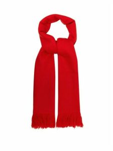 Isabel Marant - Carlyn Fringed Cashmere Scarf - Womens - Red