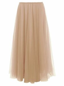 Raey - Elasticated-waist Tulle Maxi Skirt - Womens - Nude