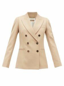 Chloé - Festive Double-breasted Wool-blend Twill Jacket - Womens - Tan