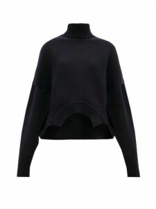 Golden Goose - Oversized Cropped Roll-neck Sweater - Womens - Navy