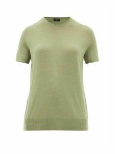 Joseph - Fine Wool-blend T-shirt - Womens - Light Green