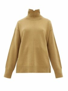 Joseph - Wool Roll-neck Sweater - Womens - Khaki