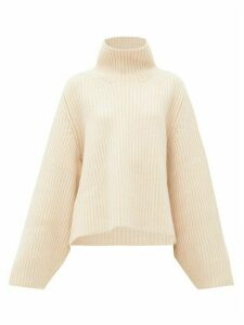 Khaite - Molly Ribbed Cashmere Sweater - Womens - Beige