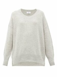 Allude - Oversized Cashmere Sweater - Womens - Light Grey