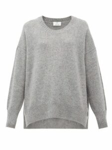 Allude - Oversized Cashmere Sweater - Womens - Dark Grey