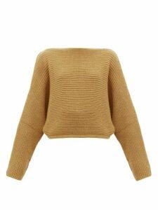 Petar Petrov - Katja Boatneck Chunky-knit Cashmere Sweater - Womens - Camel