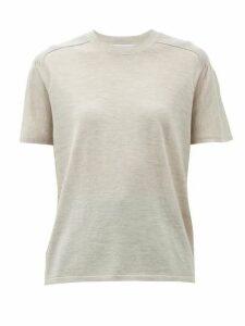 Gabriela Hearst - Bravo Ribbed-shoulder Cashmere-blend Knit Top - Womens - Beige