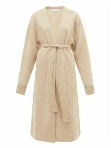 Ryan Roche - Long-line Cashmere-blend Cardigan - Womens - Beige