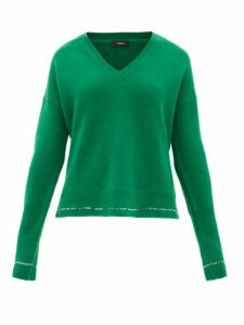 Joseph - V-neck Cashmere Sweater - Womens - Green